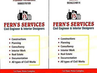 FERNS SERVICES(Civil Engineer & Interior Designer)