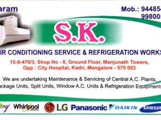 SK AIR CONDITIONING SERVICES & REFRIGERATION WORKS